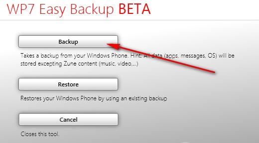 Как сделать бэкап windows phone 8